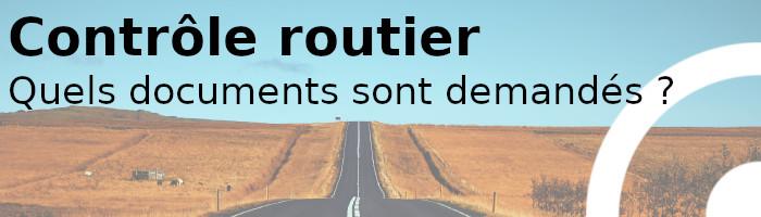 documents contrôle routier