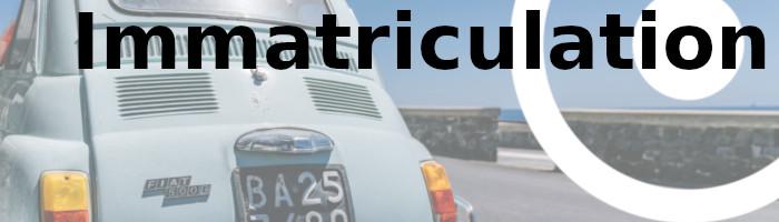 immatriculation véhicule