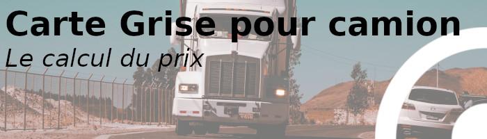 carte grise camion prix