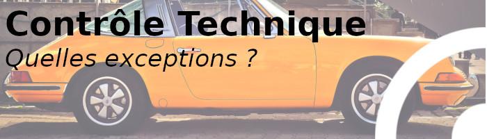 contrôle technique exceptions