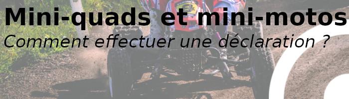 miniquad minimoto déclaration