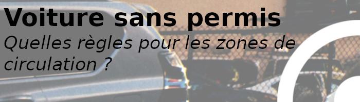 voiture sans permis circulation
