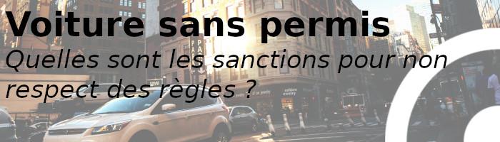 voiture sans permis sanctions
