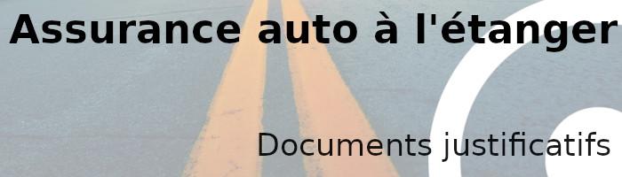 assurance étranger document
