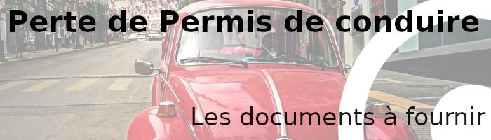 perte permis documents