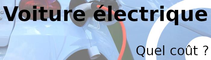 voiture électrique coût