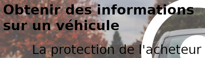 informations véhicule acheteur