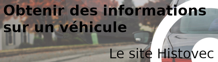 informations véhicule histovec