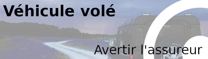 véhicule volé assureur