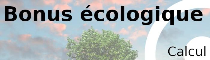 calcul bonus écologique