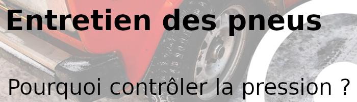 pneu contrôler pression