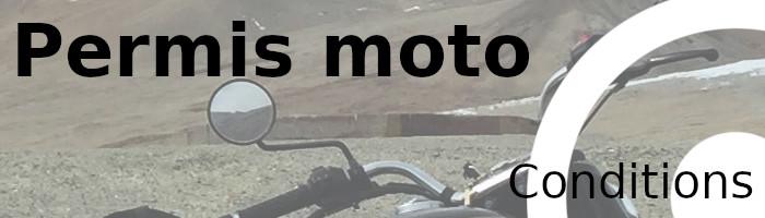 permis moto conditions