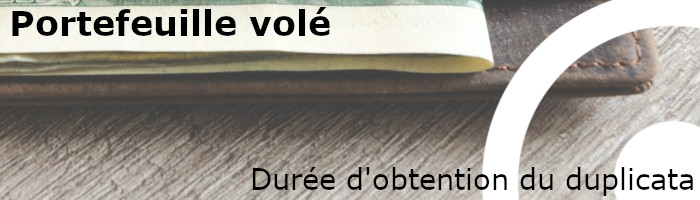 Obtention duplicata portefeuille volé