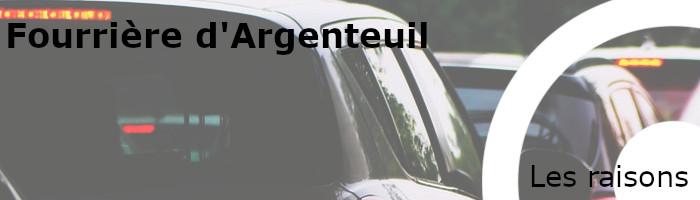 Raisons mise en fourrière Argenteuil