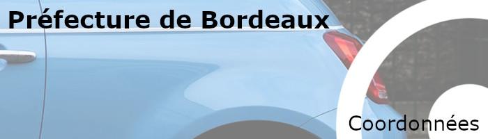 coordonnées préfecture bordeaux