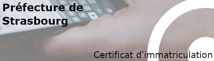 certificat immatriculation préfecture