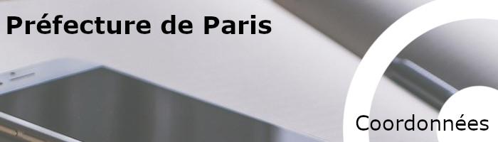 coordonnées préfecture paris