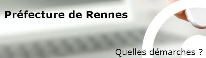 prefecture rennes démarches