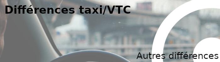 autres différences taxi vtc