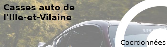 coordonnées casses auto ille-et-vilaine