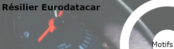 motifs résiliation eurodatacar
