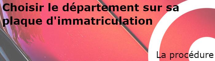 procédure département immatriculation