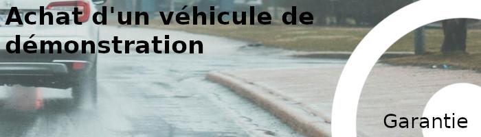 garantie vehicule demonstration