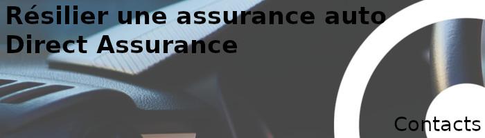 contacts résiliation direct assurance