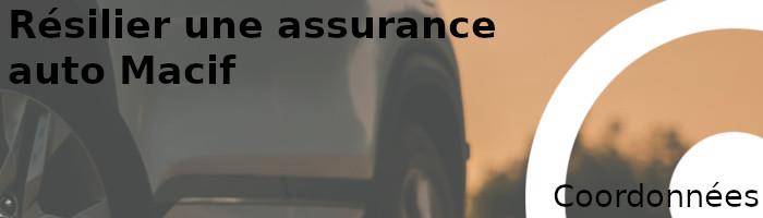 coordonnées résilier assurance auto macif