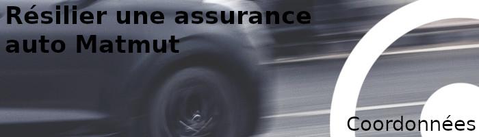 coordonnées résilier assurance matmut